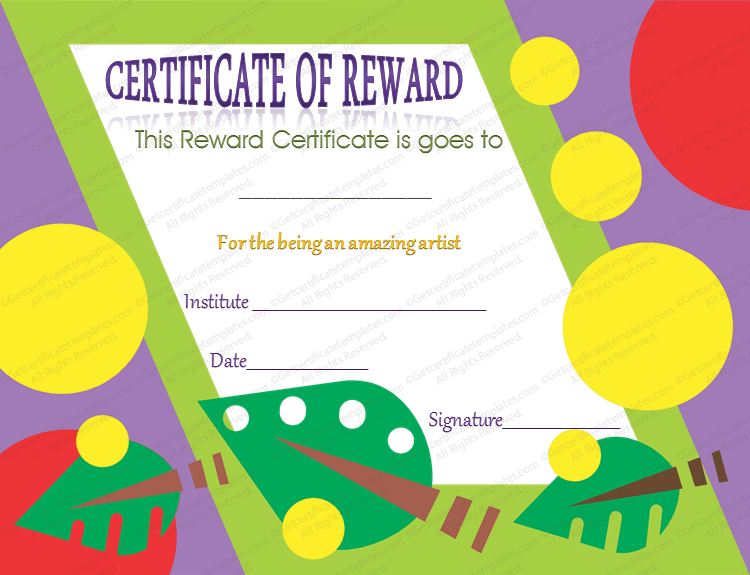 Art Themed Certificate Of Appreciation Template