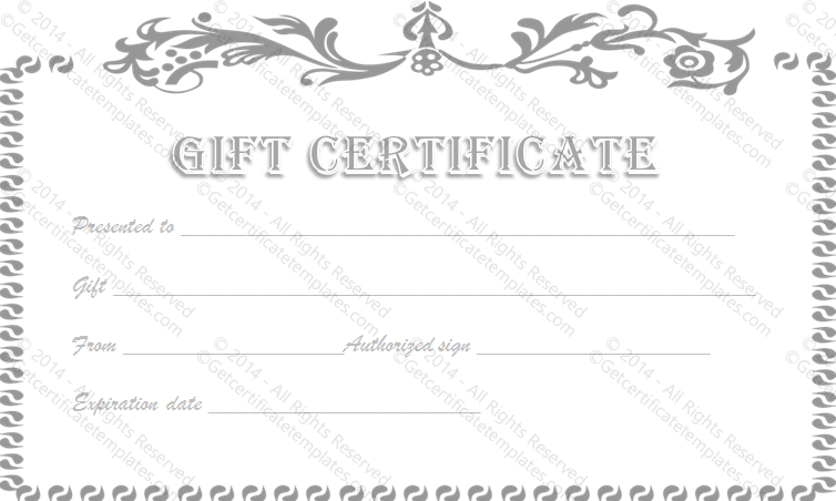 Vintage flower gift certificate template for Free printable hair salon gift certificate template