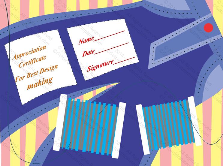 Stitching award certificate template