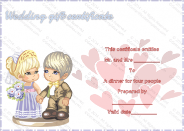 Sweet Love Gift Certificate Template
