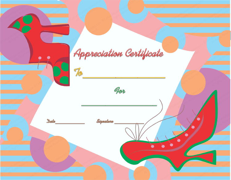 Walking good certificate of appreciation template for Walking certificate templates