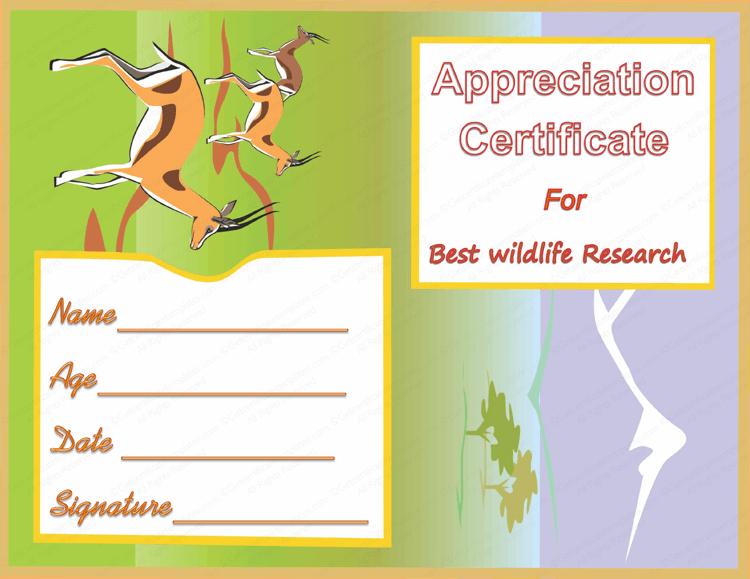 Best-Wildlife-Research-Award-Certificate-Template