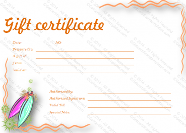 Calm and Surreal Gift Certificate Template