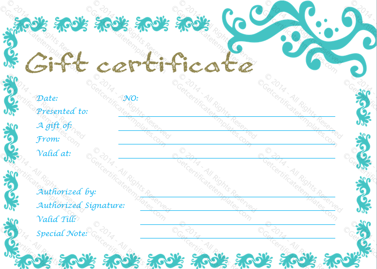 Graceful gift certificate template yelopaper Choice Image
