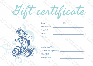 Say It With Style Gift Certificate Template