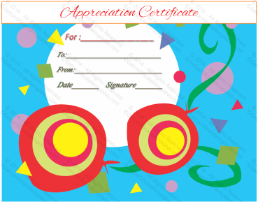 Shapes Certificate of Appreciation Template
