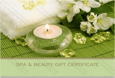 Spa gift certificate templates certificate templates for Spa gift certificate template