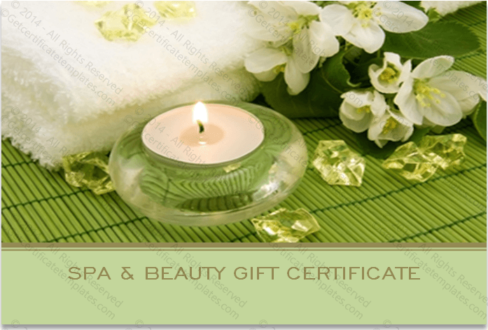 Sided spa gift certificate template two sided spa gift certificate template yelopaper Image collections