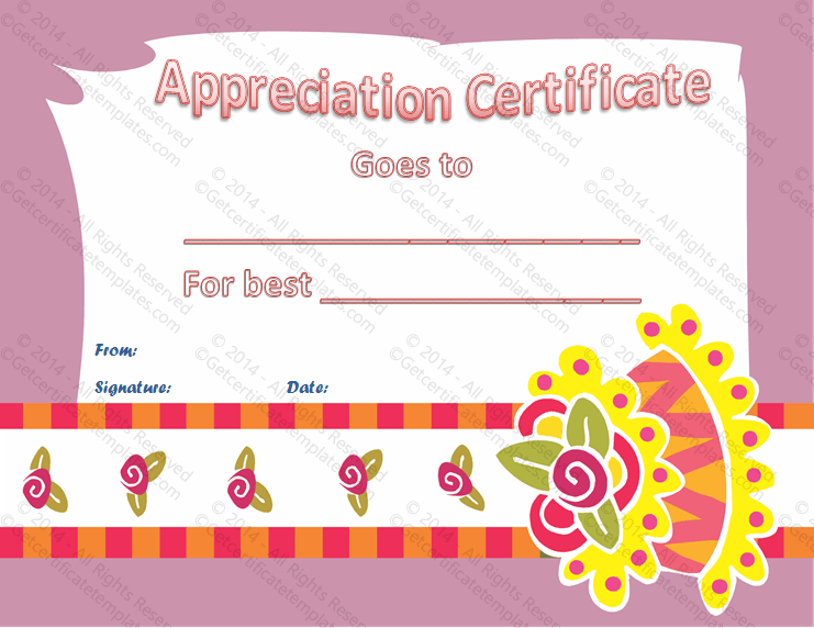 Best Cake Baker Certificate of Appreciation Template PR