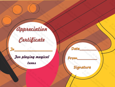 Best Music Performance Award Certificate Template