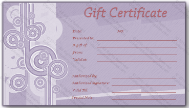 Credit Card Gift Certificate Template