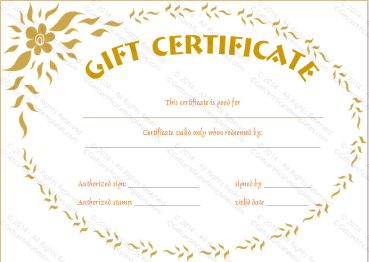 Feel Good Gift Certificate Template