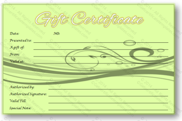 Greeting Gift Card Template
