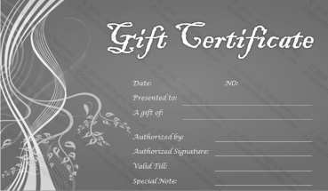 Silver Lines Gift Certificate Template