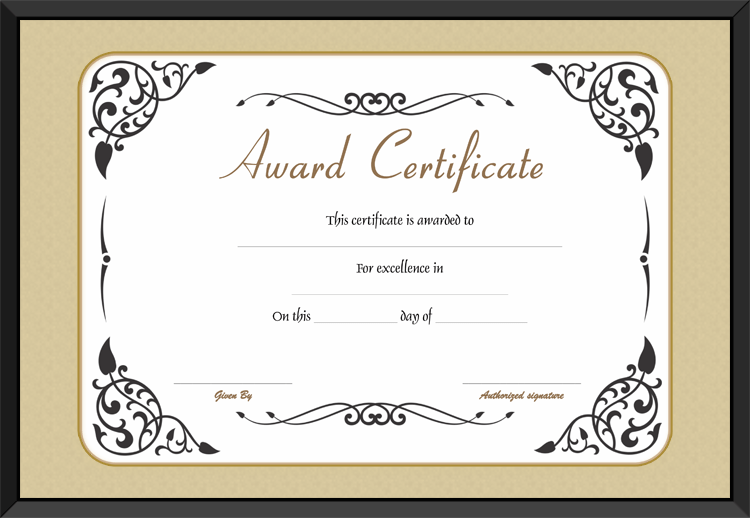 award of excellence template get certificate templates