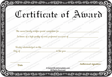 Sports certificates for Walking certificate templates