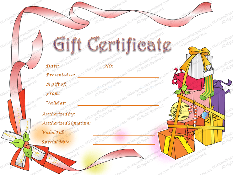 Christmas hampers gift certificate template gift certificate template download yelopaper Choice Image