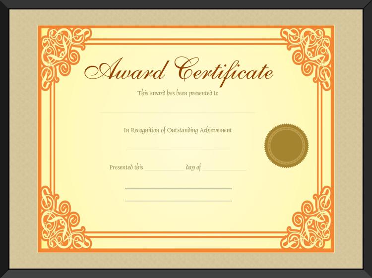 Gold Award Certificate Template Get Certificate Templates – 1st Place Certificate Template