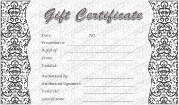 Gray Art Gift Certificate Template