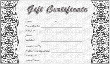 Gray Art Gift Certificate Template