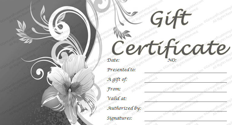 Lily gift certificate template get certificate templates for Free printable hair salon gift certificate template