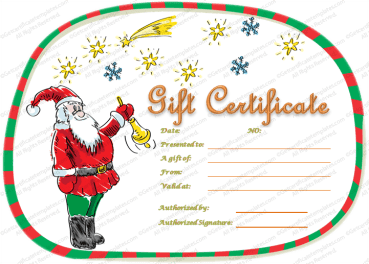 Magical Christmas Gift Certificate Template PR
