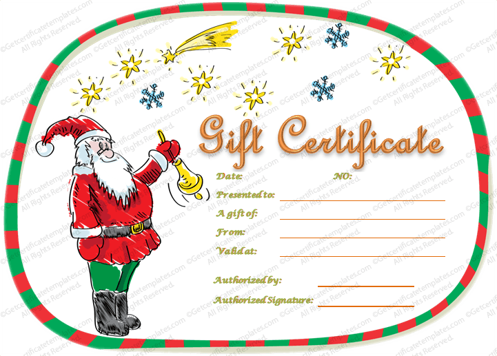 magical christmas gift certificate template
