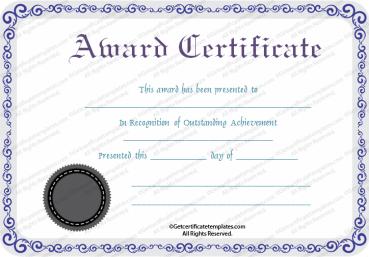 free printable awards -
