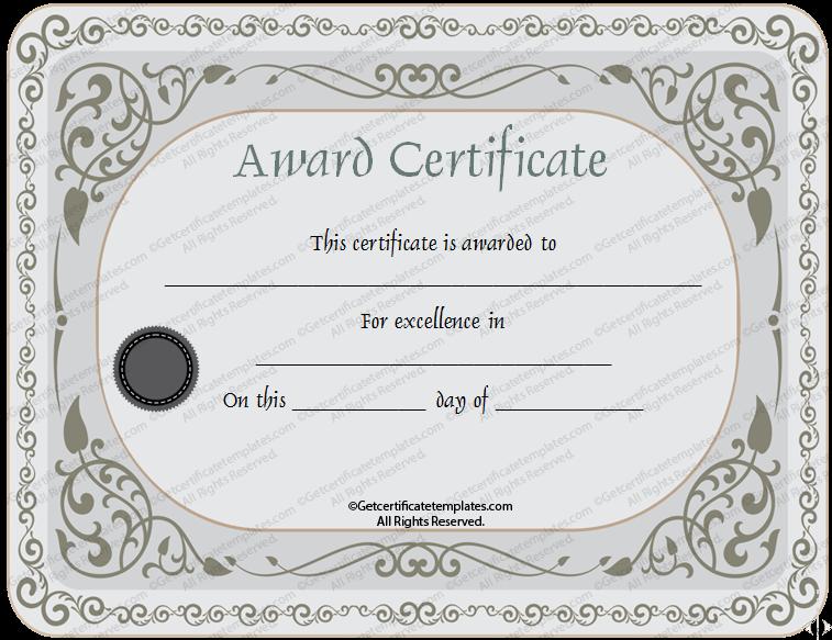Certificate of appreciation template silver certificate of appreciation template yadclub Choice Image