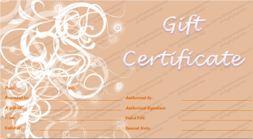Swirls in Pink Gift Certificate Template