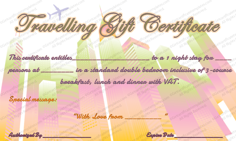 Tour Experience Gift Certificate Template  Make Your Own Gift Certificates Free