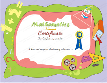 Award Certificate for Mathematics