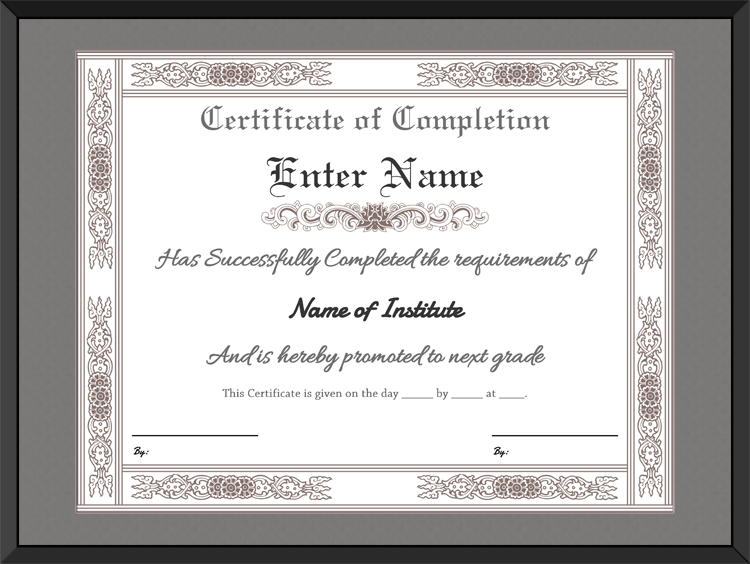 Charming Download Options For Formal Certificate Of Completion Template: Regard To Formal Certificate Template