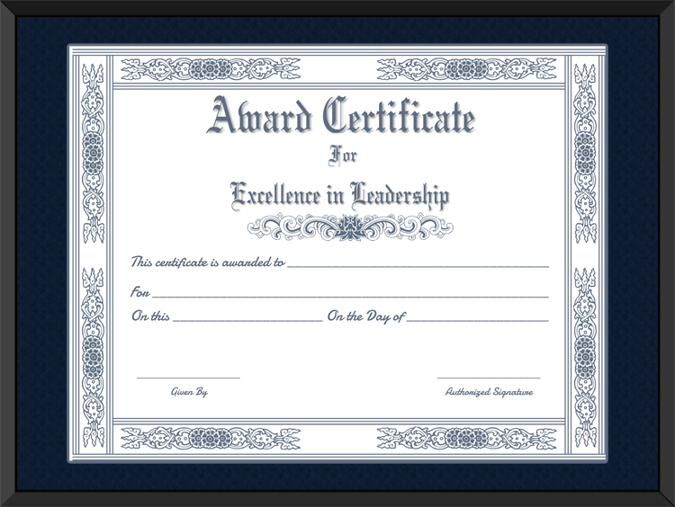 Free Printable Best Leader Award Certificate Template