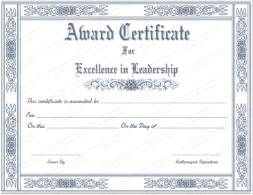 Best Leader Award Certificate Template