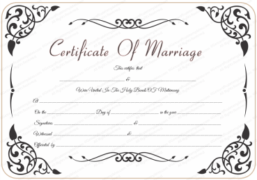 free wedding certificate template