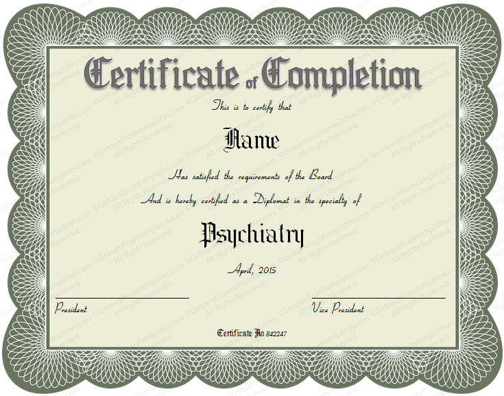 Formal Certificate Templates – Official Certificate Template
