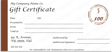 One Note Gift Certificate Template