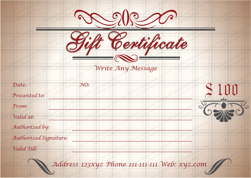 royal gift certificate template