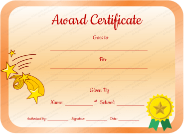 Core Value Award Certificate Template