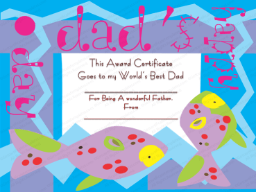 My Best Dad Award Certificate Template