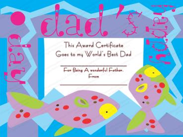 My Best Dad Award Certificate Template