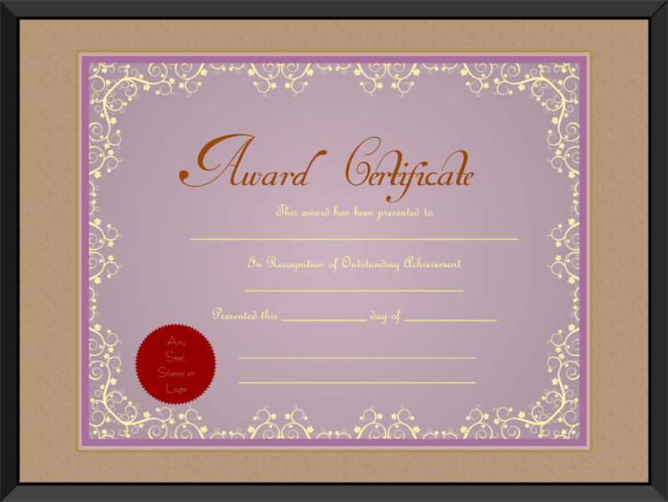 download options for purple themed award certificate template