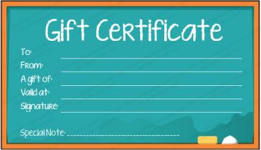 School Board Gift Certificate Template (3 Per Page)