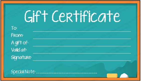 store gift certificate template