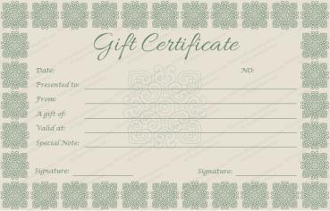 Elegant Gift Certificate Template