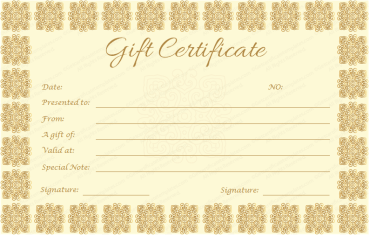 Elegant Gift Certificate Template (Golden Edition)