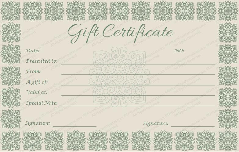 Elegant Gift Certificate TemplateElegant Gift Certificate Template