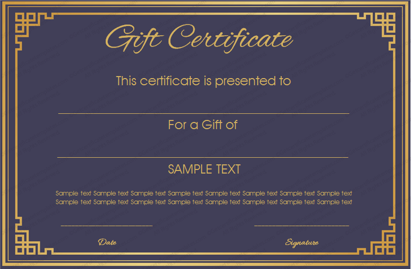 Royal blue gift certificate template get certificate templates royal blue gift certificate template yadclub Image collections