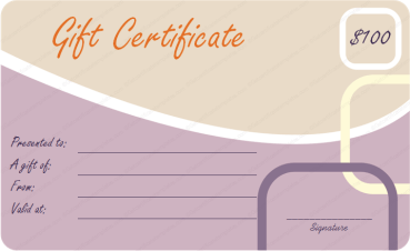 Boxes and Curve Gift Certificate Template
